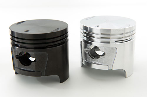 After using DLC coating, engine pison sample becomes more durable and visually appealing