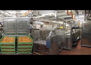 熱包裝食品快速冷卻系統