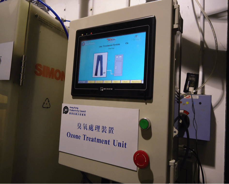 Operation panel of the Ozone Spray Finishing System