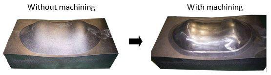 Bubbleless Al Cast Preformed Bra Cup Mold