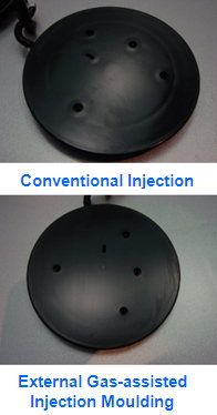 External Gas-Assisted Injection Moulding