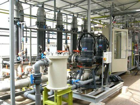 建于某食品厂之自行研发的膜生物处理系统- BM-Comb