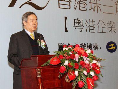 生產力局主席陳鎮仁在研討會上致開幕辭
