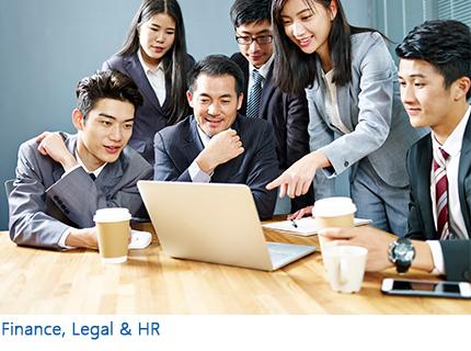 Finance, Legal & HR