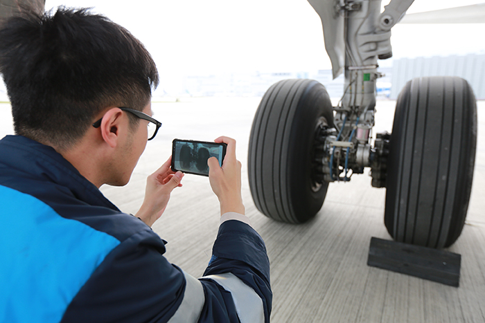 The Defect Recognition Support System for Aviation Industry can identify external defects of an aircraft through computing algorithms for compensating insufficiency of visual inspection.