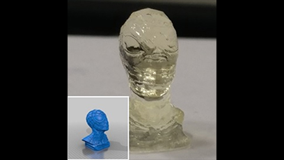Glass material for 3D printing